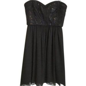 BCBG Paris Sequin Cocktail Dress | Black Size 10